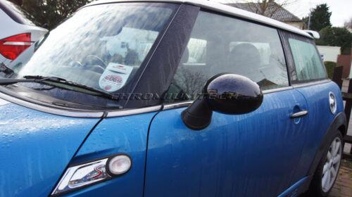 One black wing mirror cap couvre LHD pour mini européenne R50 R52 R53 Mini Cooper S