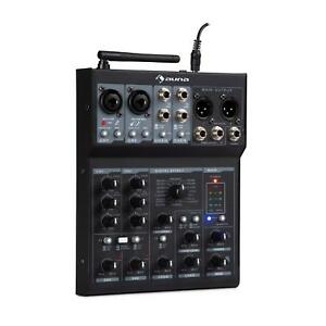 6-Kanal-Mixer-DJ-Mischpult-Party-Buehnen-Veranstaltung-USB-MP3-Player-Bluetooth