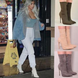 6be4fce6174f Image is loading Ladies-Womens-High-Heel-Stiletto-Fashion-Winter-Skinny-