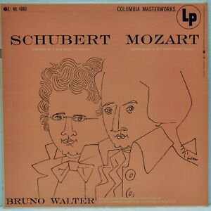 "Bruno Walter ""Schubert Symphony No. 8 / Mozart Symphony No. 41"" Columbia ML4880"