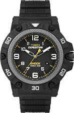 Timex Mens Expedition Field Sport Shock Black Strap Case Indiglo Watch TW4B01000