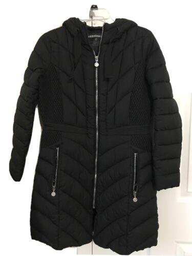 BERNARDO Petite Micro Touch Pongee Puffer Coat