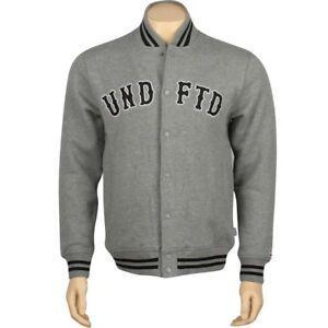 $96.00 Undefeated UNDFTD Fleece Varsity Jacket (grey heather) 518164HEA