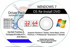 WINDOWS 7 - Ultimate 32Bit & 64Bit ReINSTALL DVD w/HD Repair Install Restore