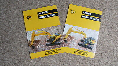 Business, Office & Industrial 2 X Jcb Js 210l Tracked Hydraulic Excavator Brochures 9999/4438 4/98 & 4481 4/99 Comfortable And Easy To Wear