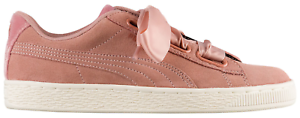 Details about Women's PUMA Suede Heart Satin Pink (Brown Rose Gold) Size 9.5