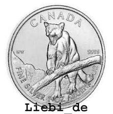 5$ Silber / Silver Kanada / Canada Wildlife Puma / Cougar 2012 1 OZ B-Ware