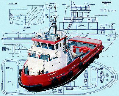 Model Scale Tug Boat Plans 40