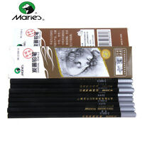 12pcs Marie's Woold Sketch Pencil Charcoal Artist Painting Drawing Soft Hard