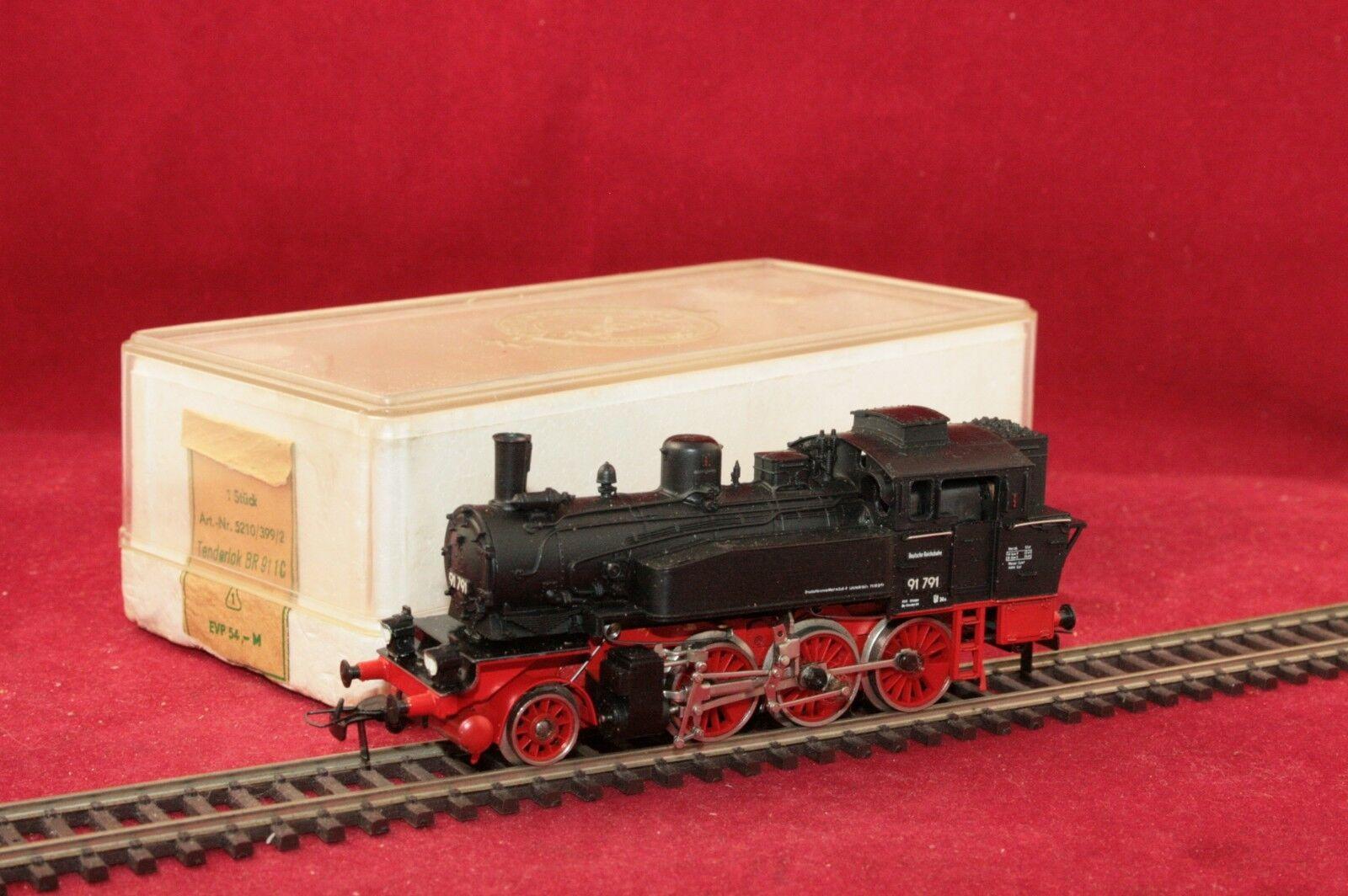 Permot hruska h0 Dr máquina de vapor br 91 791 nero embalaje original muy buen estado
