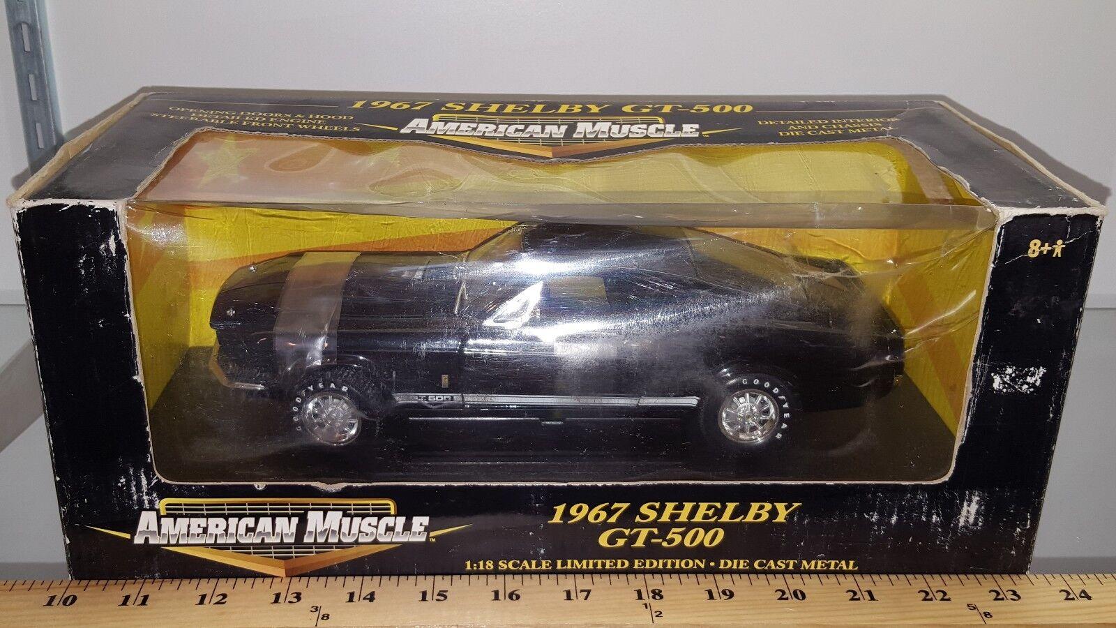 ventas de salida 1 18 Ertl American Muscle 1967 Ford Shelby Shelby Shelby GT-500 negro gd  Sin impuestos