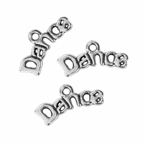 20 Or 50PCs Dance Charms 20mm Wholesale Silver Plated Pendants C2666-10