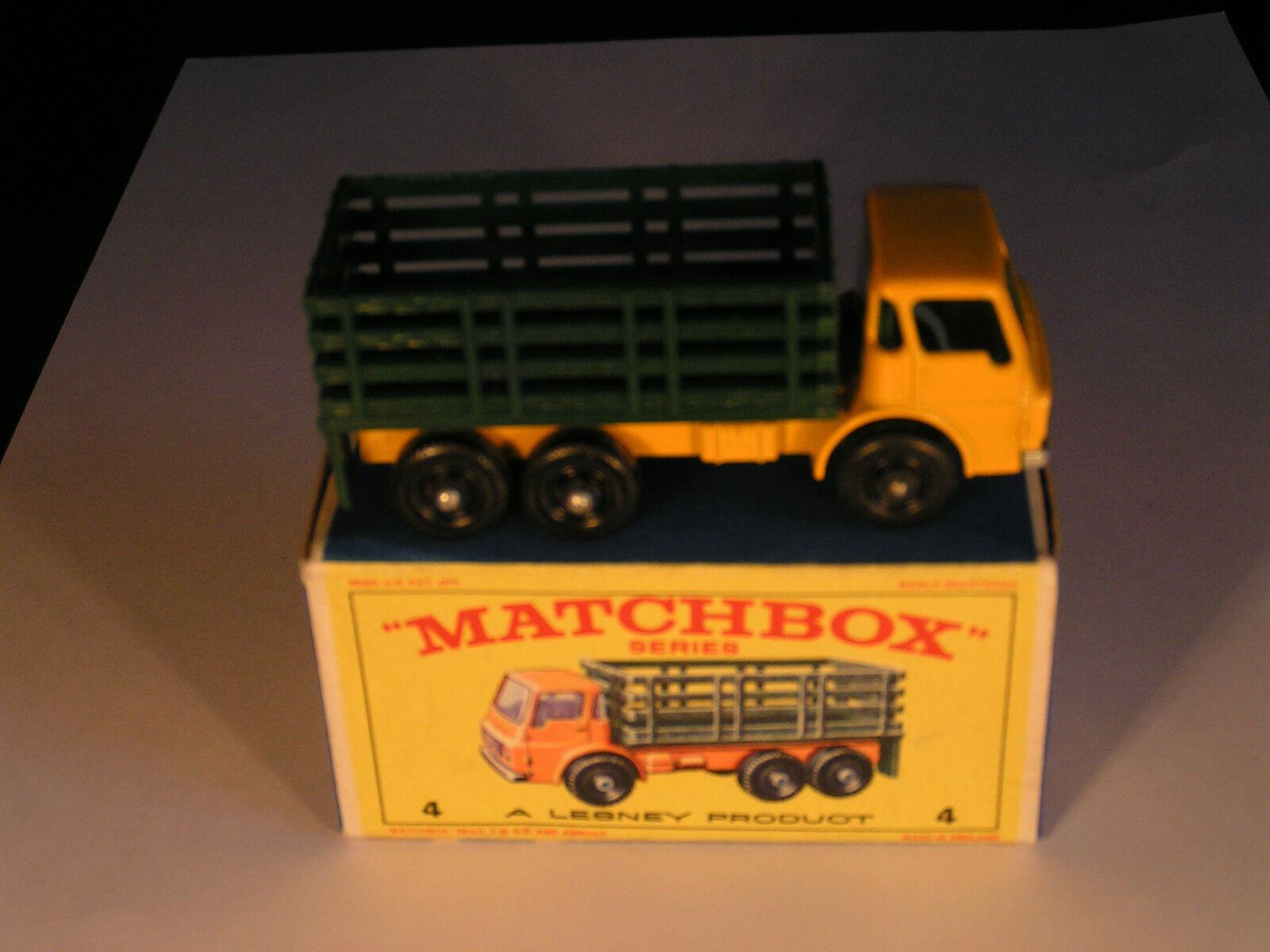 Comme neuf in original box MATCHBOX Nº Nº Nº 4 jeu camion (Vert) Excellent En parfait état, dans sa boîte Qualité 383792