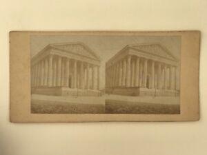 Chiesa Da La Madeleine Parigi Foto Stereo Stereoview Vintage Albumina