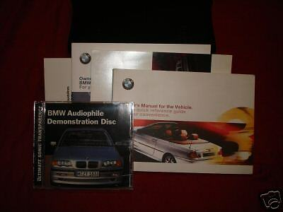 2001 Bmw 323ci Owners Manual 323 Ci Ebay
