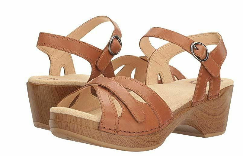 New DANSKO donna Season Camel Full Grain Leather Sandals 9849982200