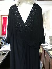 Womens Navy Long Dress, Embellished Size 22W
