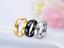 Anello-in-acciaio-Uomo-Donna-Fedina-Fidanzamento-Fascia-Unisex-incisione-nero miniatura 5