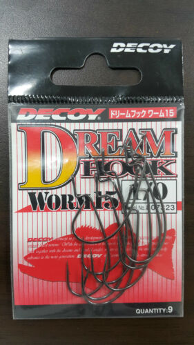 DECOY DREAM HOOK WORM 15 SIZE# Made in Japan 1//0,2//0,3//0,2,4