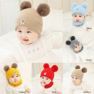 Newborn Baby Boy Girl Knit Crochet Hat Cap Beanie Top pompon Photography Prop