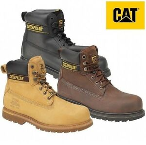 Caterpillar CAT Holton S3 brown leather steel toe-cap//midsole safety work boot