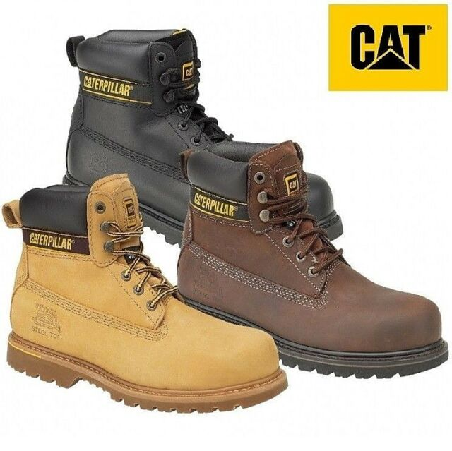 MENS BLACK SAFETY LEATHER WORK BOOT STEEL TOE CAPS HIKING ANKLE BOOTS UK SIZES