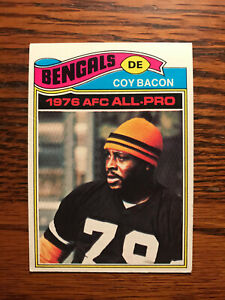 1977 Topps #250 Coy Bacon Football Card Cincinnati Bengals AFC All Pro Raw