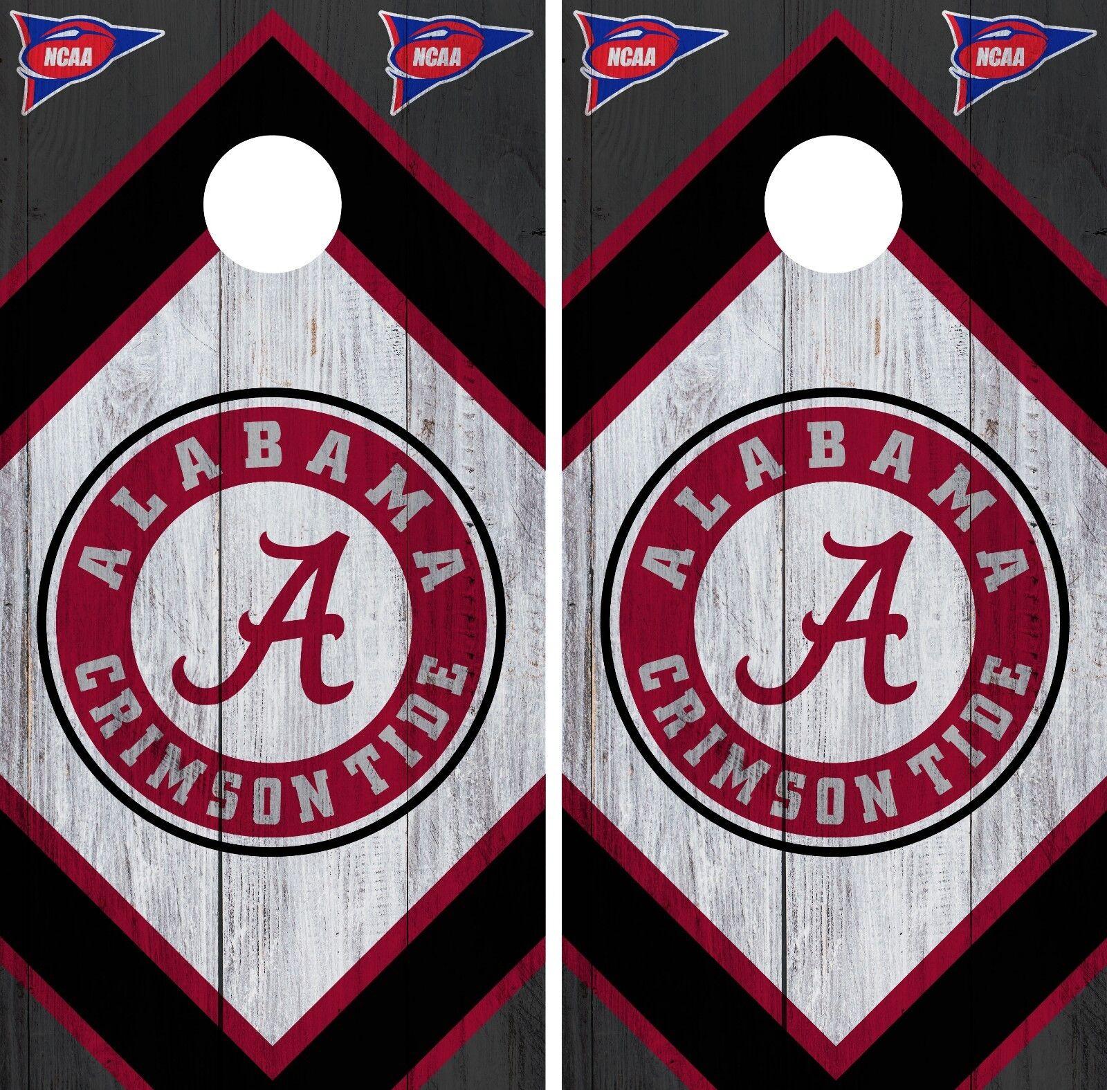 Alabama Crimson Tide Cornhole Wrap NCAA Board Skin Vinyl Decal Wood Set CO732