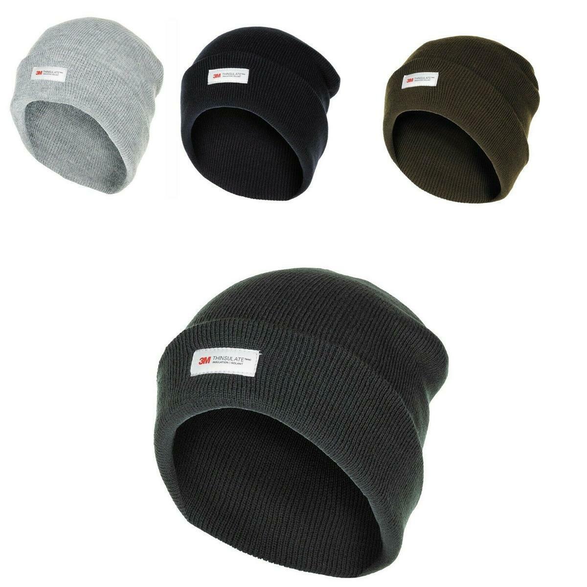 Herren Rollmütze 3M™ Thinsulate™ Insulation grau, anthrazit, blau, schwarz