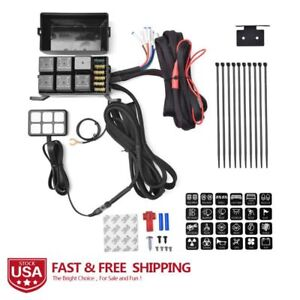 wire harness box 12v 6 gang switch panel relay control box wiring harness for car wire harness board accessories 12v 6 gang switch panel relay control