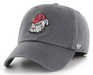 GEORGIA-BULLDOGS-NCAA-UGA-DOG-GRAY-FRANCHISE-FLEX-FIT-CAP-HAT-039-47-BRAND-NEW