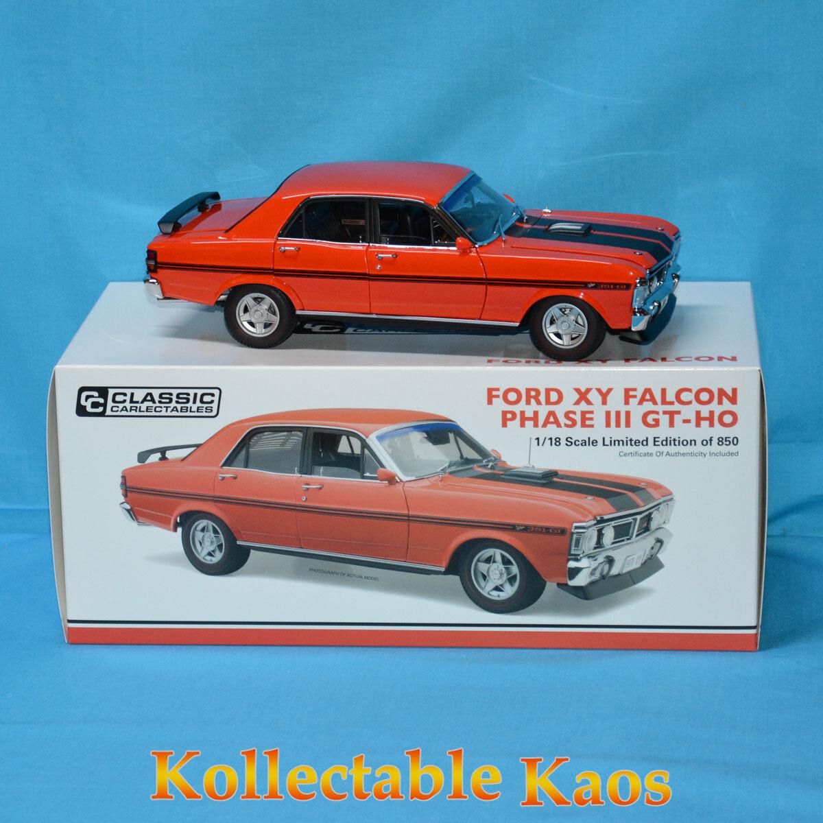 1 18 Classics-Ford XY Falcon fase III Gt-Ho-Bermellón fuego