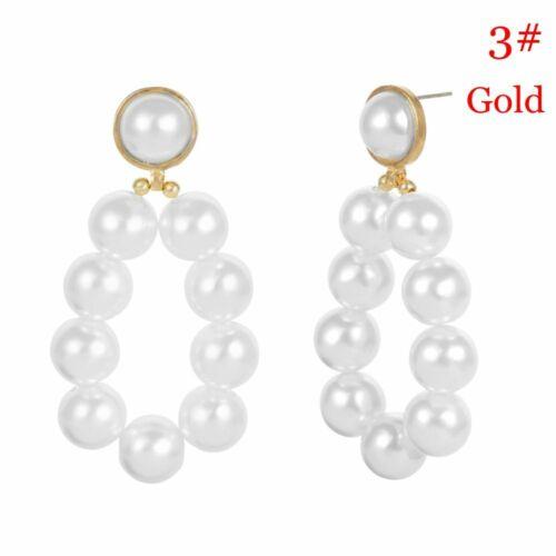Drop Earrings Women Pearl Dangle Earrings Fashion Party Wedding Love Heart New