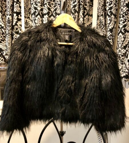 Women's Chubby Nwt Koncepter Internationale Shrugback Inc Faux Bolero Black Jacket Fur qqrH0wp