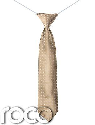 Ragazzi Bronzo Fascette, Cravatta Elasticizzata, Slim Bronzo, Accessori, Oro