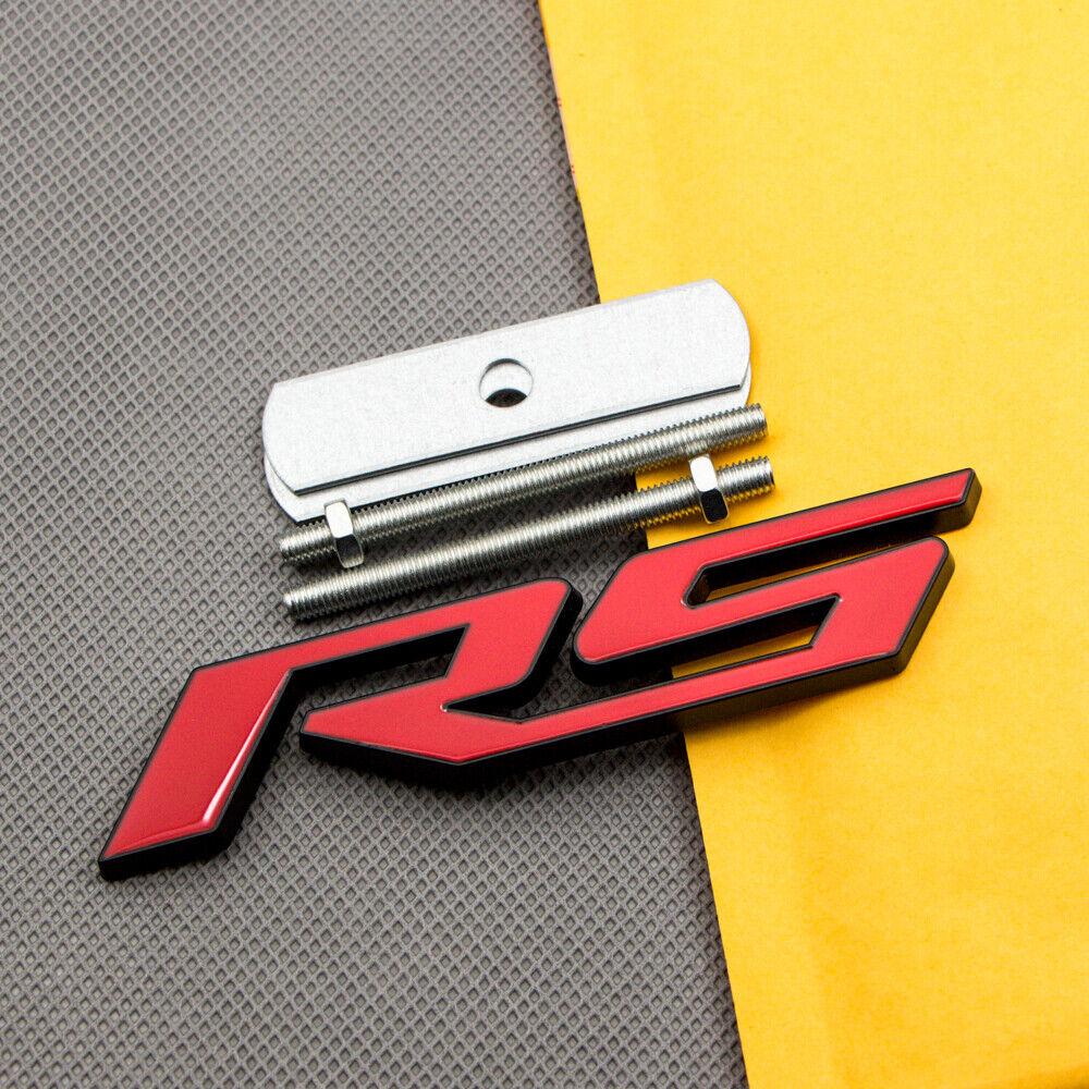 R Logo 3D Metal Red R Racing Front Hood Grille Badge Emblem Decoration