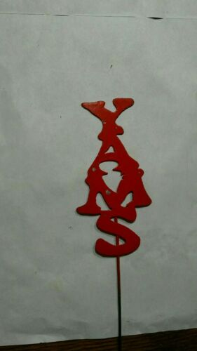 1 Garden Yard Plant Stake Marker Your Choice Word /& Color Made from Scrap Metal