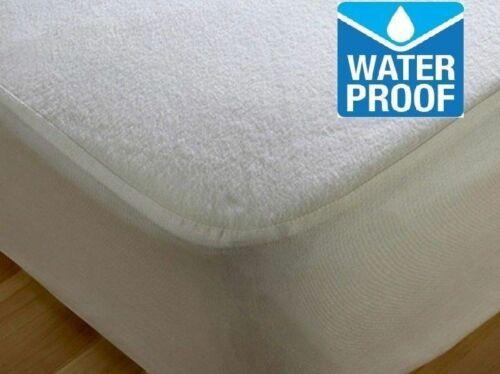 Super king Single Terry Towel Waterproof Mattress Protector Deep Double King