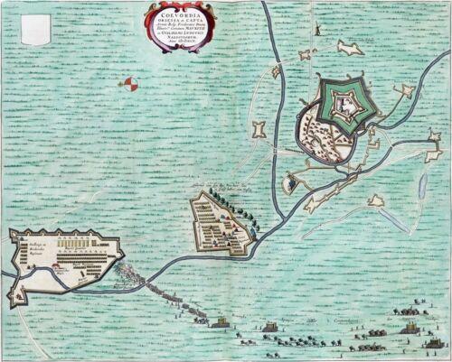Reproduction plan ancien de Coevorden 1592