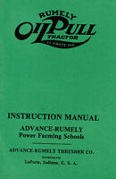 Advance Rumely Oil Pull Tractor Book Manual Gas Engine Motor Hit Miss Thresher
