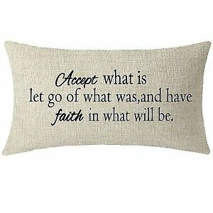 Gift Inspirational Quote Words Accept What Is Let Go Waist Lumbar