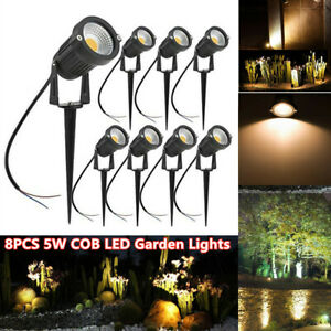 ALEDECO Outdoor Led Landscape Lights 12V 5W Low Voltage Waterproof Garden Tree 8