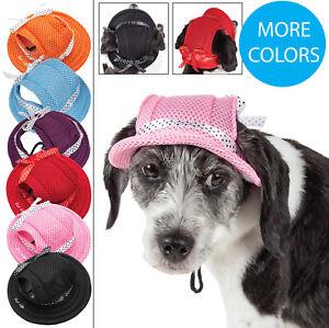 Pet-Life-039-Sea-Spot-Sun-039-UV-Protectant-Fashion-Mesh-Brimmed-Pet-Dog-Hat-Cap