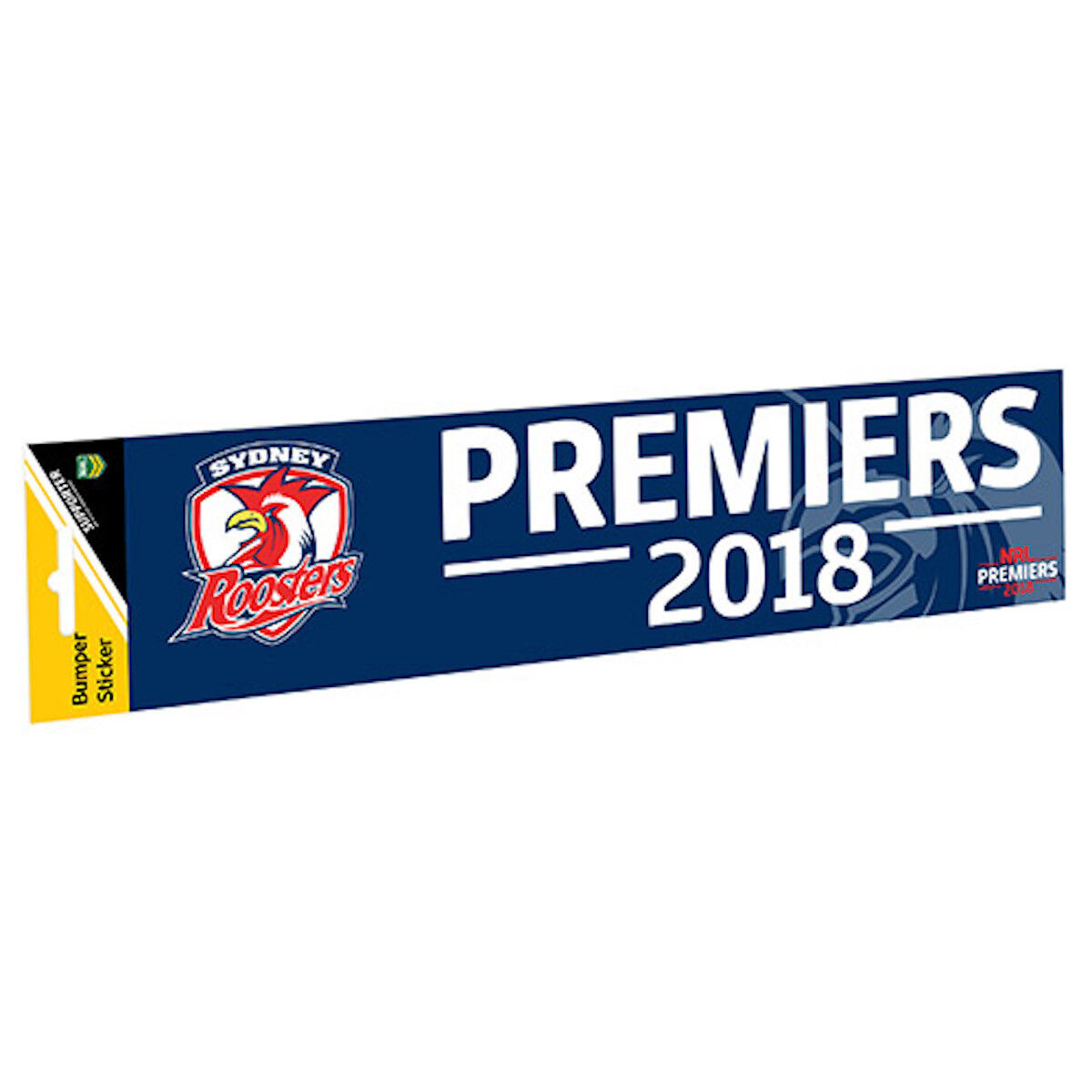 Sydney Roosters NRL 2018 Premiership Premiers Car Bumper Decal Sticker set of 3