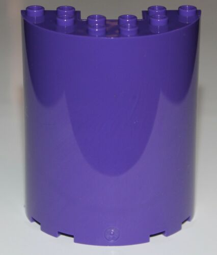 Lego 2x Dark Purple Wall Cylinder Half 3 x 6 x 6 with 1 x 2 Cutout