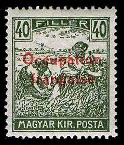 1919 HUNGARY #1N9 FRENCH OCCUPATION ISSUE - OGH - VF - CV$37.50 (ESP#9876)