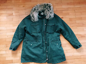 Warmed Parka Lempelius Real Size Fur S Military TE48x