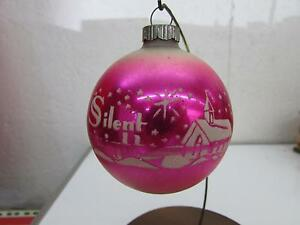 image is loading vintage christmas shiny brite pink fade silent night