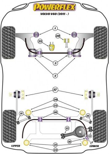 PowerFlex pu casquillos Mondeo ST s80 v70 s60 v60 xc60 motor campamento torsión pilar