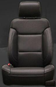 2016 Chevrolet Chevy Crew Cab Katzkin Black Leather Seat